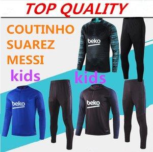 niños chándal 2019 Messi entrenamiento de fútbol chaqueta del traje survetement SUAREZ Griezmann DE JONG Jersey 19/20 muchachos niños chandal de fútbol