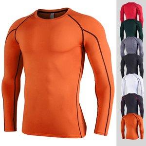 남성 트레이닝 슬림 긴 소매 T 셔츠는 편지 조깅 활성 티셔츠 통기성 봄 의류를 실행 티셔츠 병력을 인쇄 탑
