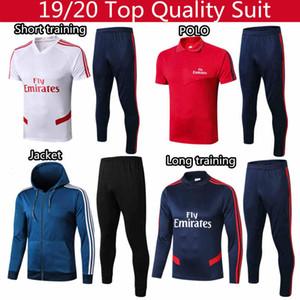 pepe Long'un kollu futbol eşofman takım Adam futbol Ceket üstleri ve pantolon 19/20 Tayland en kaliteli POLO futbol eşofman S - XXL