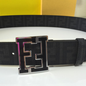 F BELT Echtleder enthält die Seriennummer des schwarzen Gürtels verstellbar mit BOX