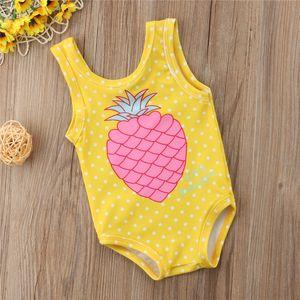 I bambini della neonata Pine Stampa Swimwear del costume da bagno del vestito Beachwear Costumi da bagno Un Pezzi Swimwear dropshipping