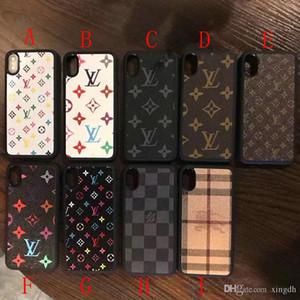 copertura della cassa del telefono mobile stampata lettera grata per l'iphone 11 11Pro max Xs max 7 7plus 8 8plus Xs X Xr 6 6 più di marca di disegno TPU + PC