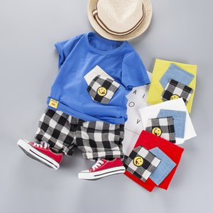 Summer 2020 new children's boutique kids clothing short sleeve T-shirt and pants toddler boy clothes sets