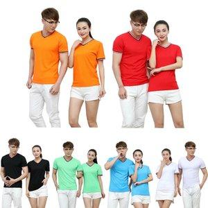 Peinados de algodón V plomo puede camiseta Publicidad camiseta de manga corta Encuentro Cultura ropa superior sin forro