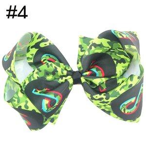 Livraison gratuite 30pcs 8 « » TikTok grande fille cheveux Archets Accessoires avec clip Boutique Bow Hairpins Ornements cheveux