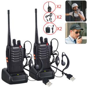 2PCS Baofeng BF-888s Walkie Talkie Baofeng 888s CB radio bidirezionale 16CH 5W 400-470MHz radio portatile tenuto in mano per gli Stati Uniti Radio caccia Stock