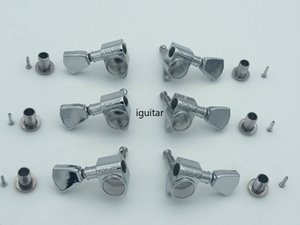 Têtes Peg Chrome Grover Tuning Machines Tuners Guitare électrique Tuning Pegs