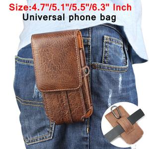 في جلد الحقيبة حزام الخصر حقيبة الهاتف حالة تغطية لسامسونج غالاكسي s7 s8 j5 2016 a5 2017 هوك الحافظة 4.7 '' إلى 6.3 ''