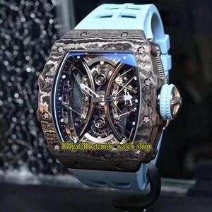 JB Top Mercado versión RM 53-01 Pablo Mac Donough Relojes TPT® fibra de carbono Caso verdadera Tourbillon Automático RM53-01 del reloj para hombre de goma de diseño
