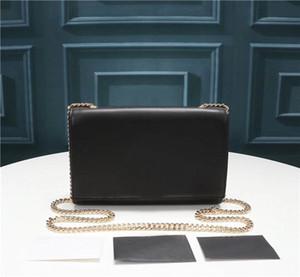 Transporte livre mundial 311,228 tamanho 22 centímetros 16 centímetros 5 centímetros corrente de metal bolsa de ombro senhoras couro quadrados clássico moda de luxo