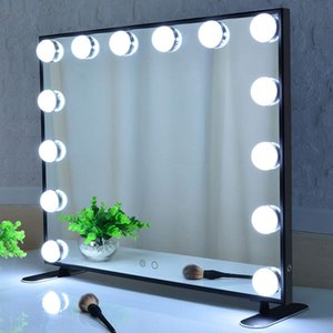 Beautme Hollywood light Vanity Mirror Salon dressing tabletop Led Touch sensor Makeup mirror with 14Bulbs dimming