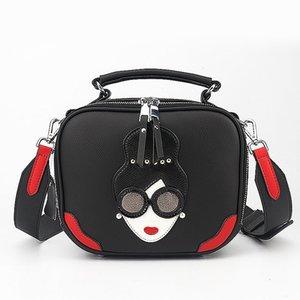 Charm2019 Sommer Muster Gesicht Crash Kuhfell Frau Paket Europäische Haltung Einzelner Schulter Handtasche