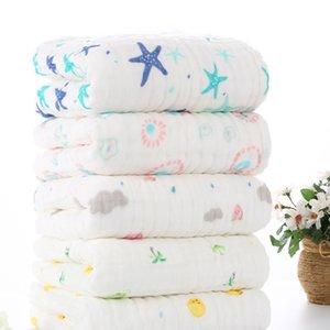 100% Baumwolle Baby-Decke Infant Muslin Kinder Soft-Bad Dusche Handtuch Neugeborenes Verbandsmull Swaddle Empfangen Decken 105x105cm