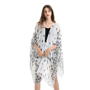 2019 neue Sommer Bikini Bluse Strand Schal leicht und schnell trocknend Frauen Schals Mode pastoralen frische Feder Chiffon Sonnencreme Schal