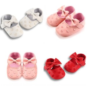 K22-baby Children's cloth Butterfly walking soft baby toddler with formal dress bow princess pre-step shoes peach heart Pu shoes
