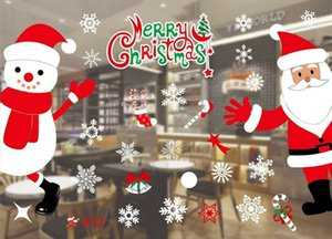 Christmas Holloween window stickers removable decal store Glass window stickers background wall stickers Christmas Decorations