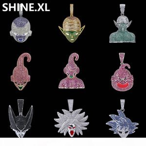 New Fashion Iced Out Cute Cartoon Pendant Necklace Gold Silver Plated Men Hip Hop Bling Jewelry Christmas Gift