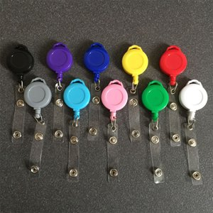 DHL Shipping Retractable Badge Reel Clip Nurse Exhibition Pull Key Holder ID Name Card Badge Holder School Supplies Heavy Duty Cable X203FZ