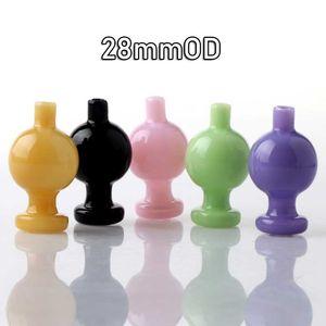 Nouvelle couleur verre bulle Carb Caps 25mm / 28mmOD Cap Carb Heady verre Capuchon Bubble Pour Flat Top Quartz Banger Ongles Dab Rigs Tuyaux