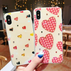 The new cute cartoon heart-shaped iPhone X S R 7 8 plus 11 pro MAX phone case.