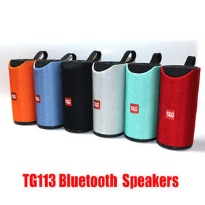 TG113 Bluetooth sem fios Speakers Subwoofers Handsfree Chamada Perfil Stereo Baixo Suporte TF USB Cartão AUX Line In Hi-Fi 1200mAh