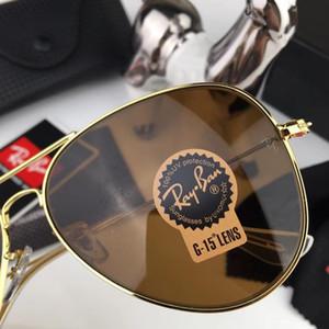 2018 luxe corne de buffle lunettes marque designer lunettes de soleil pour hommes femmes sans monture rectangle lunettes de soleil en bois de bambou avec boîtes cas