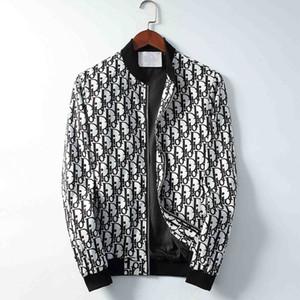 Модный бренд роскошные мужские дизайнерские куртки ветровка толстовка куртка молния Письмо печати куртка мужская толстовка пальто куртка