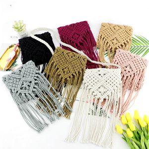 Spalla ACELURE paglia Borsello in Boemia della nappa Beach Bag Donne Crochet frange Ultralight Messenger Borse Feminina
