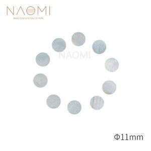 NAOMI 10 PCS Guitar Dots 11mm White Mother Of Pearl Shell Fingerboard Dots For Guitars Ukuleles Banjos Fingerboards