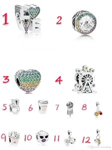 20Pcs Anchor Statue Of Liberty Ferris Wheel Love Cup Charm Silver European Charms Bead Fit Bracelets DIY Wedding Jewelry Accessories