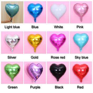 Atacado 18 50pcs Inch do amor do coração Foil Balloon / Wedding Party Balloons Birthday Party Decoration Crianças Lot Decor Balões DH0931 T03