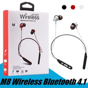 M8 Magnetic Wireless Bluetooth 4.1 Sweatproof Headphones Sport Earphones Stereo Headset With Micphone For mobile phones DHL free shipping