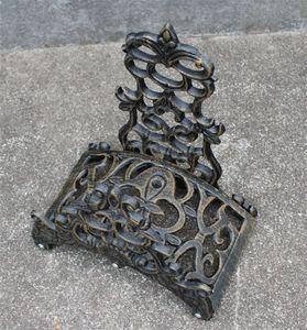 Hose Holder Cast Aluminum Vintage Antique Style Wall Mount Brown Ornate Hose Reels Hanger Storage Stand for Home Cottage Garden Antique