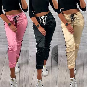 2019 Femmes Leggings Yoga Fitness Course à pied Sport Gym taille haute Pantalon jogging Pantalon