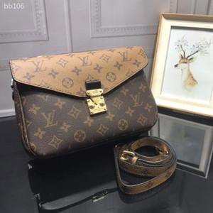 2020 Flap Shoulder Bag catena singola Messenger Bag Piccola Piazza signora Messenger Bag Vera Pelle borsa Crossbody Messenger Shoulder Size 25 centimetri