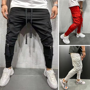 Autumn Men Long Pants Hip Hop Harem Joggers Pants 2020 New Male Trousers Men Joggers Solid Multi-Pocket Pants Sweatpants M-3XL