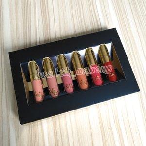 New Original Beauty Glazed Gold Cosmetics Birthday Edition 6pcs Set Lipgloss Cosmetics Matte Liquid Lipstick Lipgloss Lip Gloss Kit DHL free