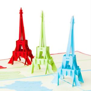 Kawaii Handmade 3D Ferris Wheel Origami 3D Pop Up Paper Laser Cut Vintage Post Cards Greeting Cards Happy Birthday Gifts Kraft