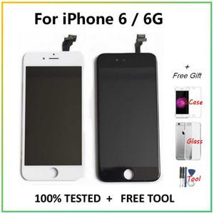 """Для iPhone 6 6G ЖК-дисплей с сенсорным экраном дигитайзер Ассамблеи Grade Замена + Free 3 Подарки для iPhone6 4.7"""" ЖК-экран"""
