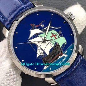 FK Top Designer Classico 8150-111-2 / SM Синие мужские часы UN-815 Автоматическое движение Сапфировое стекло Синий циферблат Морской ремешок для наручных часов Кожаный ремешок