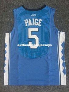 # 5 Marcus Paige # 11 Brice Johnson # 40 Harrison Barnes Jersey North Carolina Tar Heels Colégio Basquete Jerseys colete Camisas Ncaa