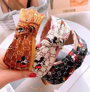 Acessórios de cabelo Mulheres Hairband Faixa de Cabelo listrado impressão Fashion Designer padrão novo de inverno da Banda Letter Flower Headband