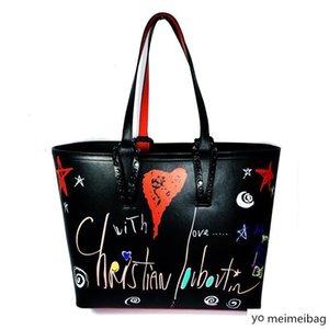 bcabata designer  handbags totes clutch shoulder red bottom composite handbag genuine leather purses shopping bag