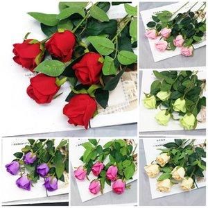 Valentine's Day bouquet Single Simulation rose Wedding decoration Flannelette rose Party decoration flower T9I00363
