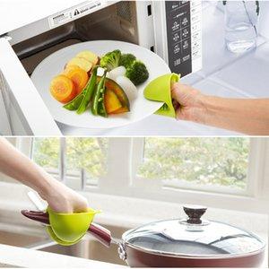 Luvas 1Pc Silicone Forno Anti-Hot Heat luvas resistentes Tome Calor braçadeira bacia clipes Thicken Forno Mitts Kitchen Baking Tools