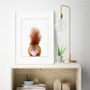 The Squirrel Blowing Bubbles Wall Picture Poster And Print Decorative Home Decor