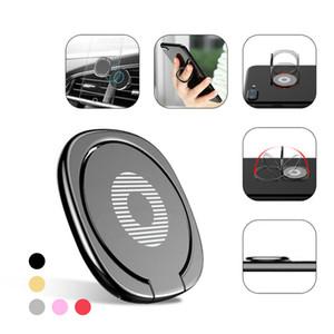 Hochwertiger 360 Grad-Metallfingerring-Halter Smartphone-Handy-Standautoringstent für iPhone X 6 Samsung Tablet mit Paket