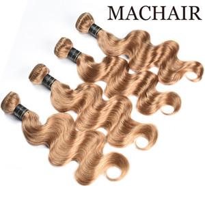 Color 4# Ash Blonde Color 27 Honey Blonde Color 30 Indian Body Wave Hair Weave Bundles Remy Human Hair Extension
