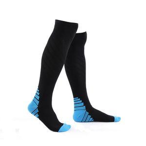 Unisex sports compression socks no slip cycling running gym breathable pressure socks stocking leg sleeves M L