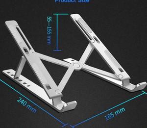 Soporte de enfriamiento ventilado portátil Aleación de aleación de aleación ajustable Plegable Ultra Laptop Tablet Soporte MacBook Desk Accesorios DHB495